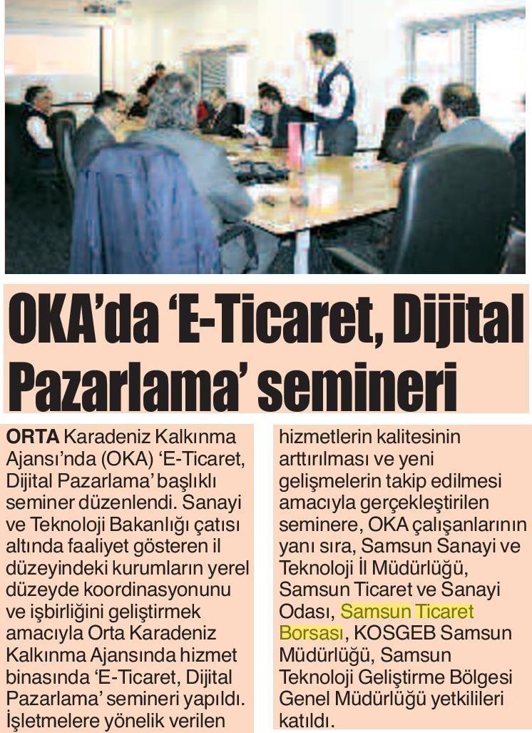 Oka'da E-ticaret Dijital Pazarlama Semineri