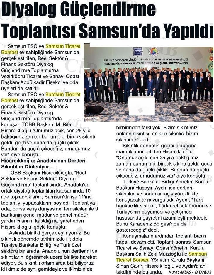 Diyalog Güçlendirme Toplantısı Samsun'da Yapıldı.