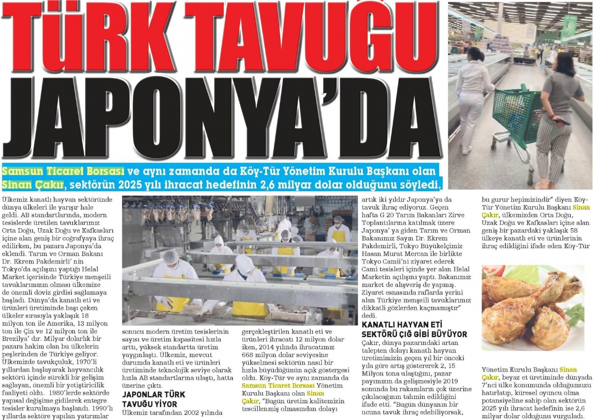 Türk Tavuğu Japonya'da