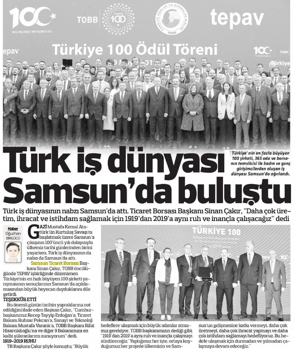 Türk İş Dünyası Samsun'da Buluştu