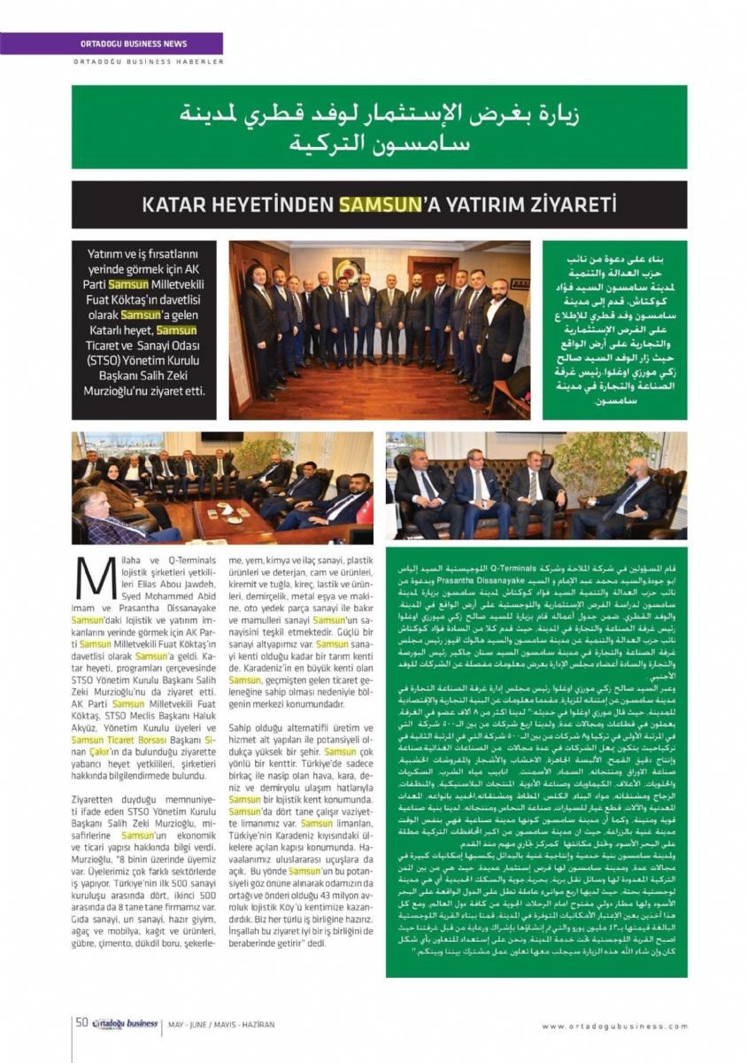 Katar Heyetinden Samsun'a Yatırım Ziyareti