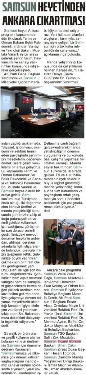 Samsun Heyetinden Ankara Çıkarması