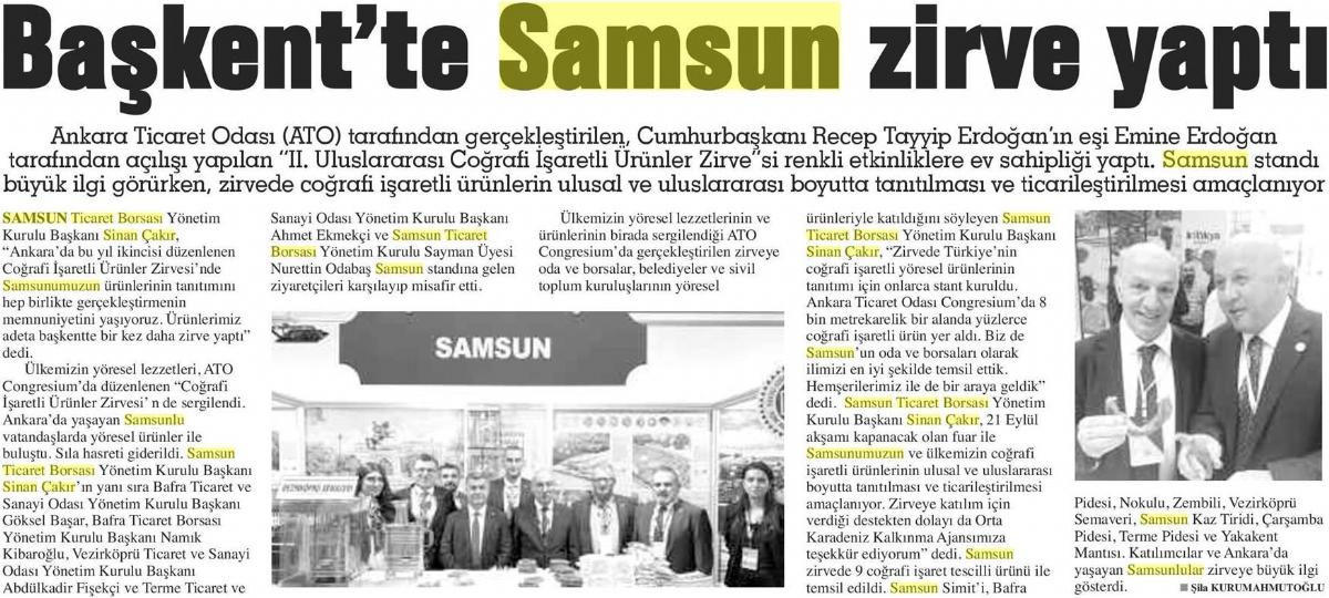 Başkent'te Samsun Zirve Yaptı