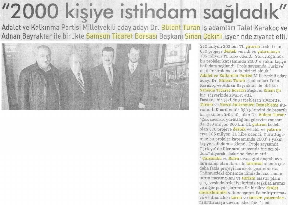 2000 Kişiye İstihdam Sağladık