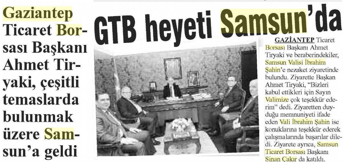 Gtb Heyeti Samsun'da