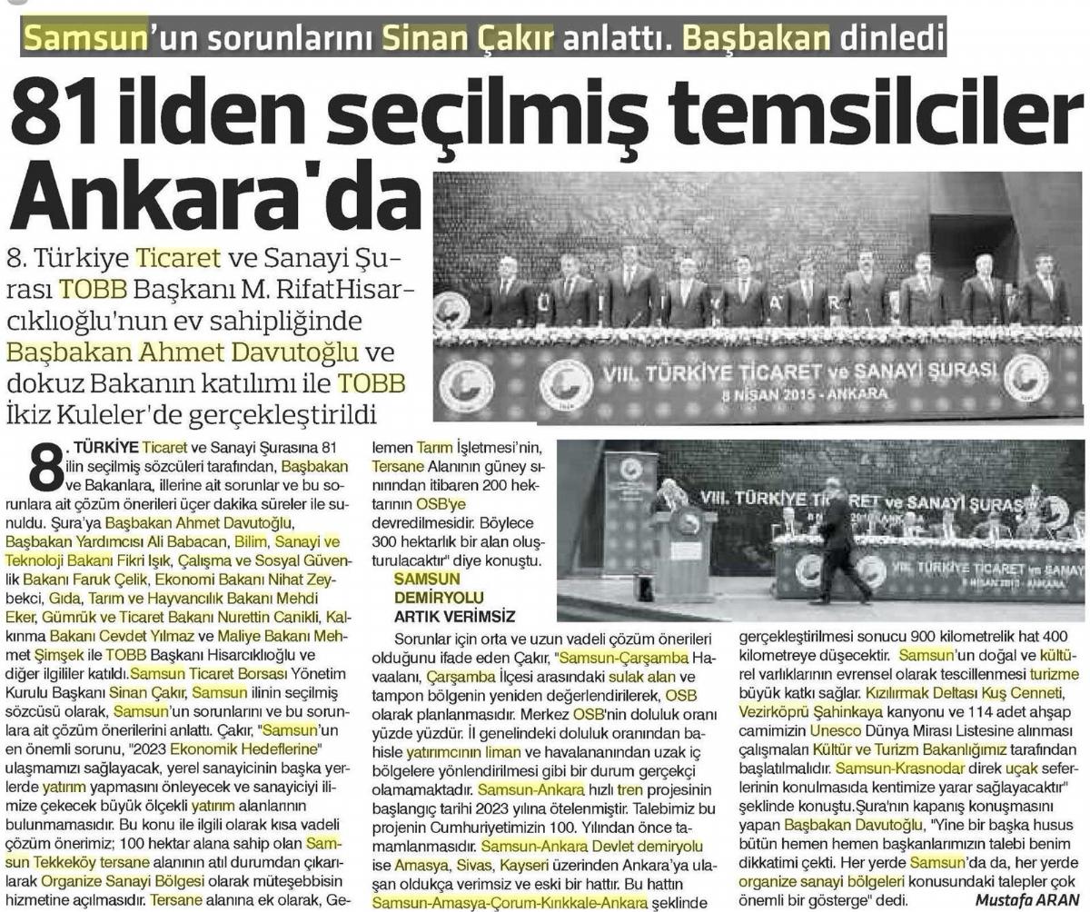81 İlden Seçilmiş Temsilciler Ankara'da