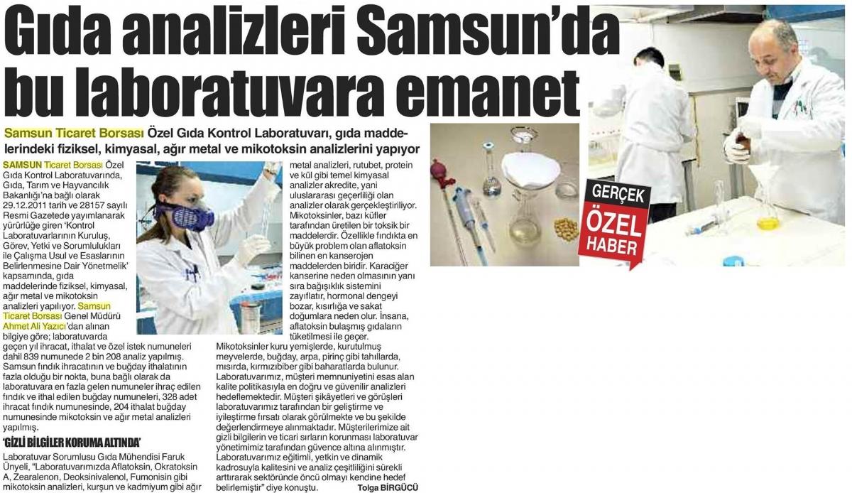 Gıda Analizleri Samsun'da Bu Laboratuvara Emanet