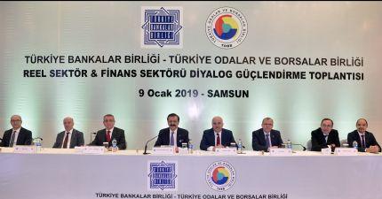 Borsamız ve Samsun Tso Ev Sahipliğinde Türkiye Odalar ve Borsalar Birliği ( Tobb ) & Türkiye Bankalar Birliği ( Tbb ) Reel Sektör & Finans Sektörü Diyalog Güçlendirme Toplantıları