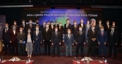 Başkan Çakır Akıllı Şehir Trafik Güvenliği Projesi İmza Töreni 'ne Katıldı..