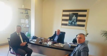 Türk Standartları Enstitüsü ( Tse ) Samsun Belgelendirme Müdürü Erol Kaygı, Yönetim Kurulu Başkanımız Sinan Çakır'ı Makamında Ziyaret Etti.