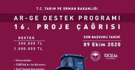 Tarım ve Orman Bakanlığı Ar-ge Destek Programı