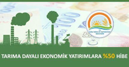 Tarıma Dayalı Ekonomik Yatırımlara %50 Hibe
