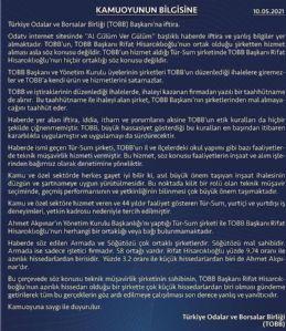 TOBB Başkanı Hisarcıklıoğlu'na İftira ...