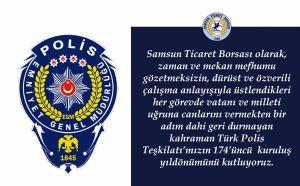 Türk Polis Teşkilatı'mızın 174'üncü Kuruluş Yıl Dönümü Kutlu Olsun...