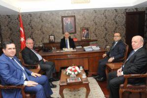 Başkan Çakır ve Gaziantep Ticaret Borsası Başkanı Ahmet Tiryaki, Valimizi Birlikte Ziyaret Etti.