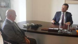 Valimiz Hüseyin Aksoy Veda Ziyaretleri Çerçevesinde Yönetim Kurulu Başkanı Sinan Çakır'ı Ziyaret Etti.