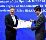 Hisarcıklıoğlu'na İspanya Sivil Liyakat Nişanı Verildi