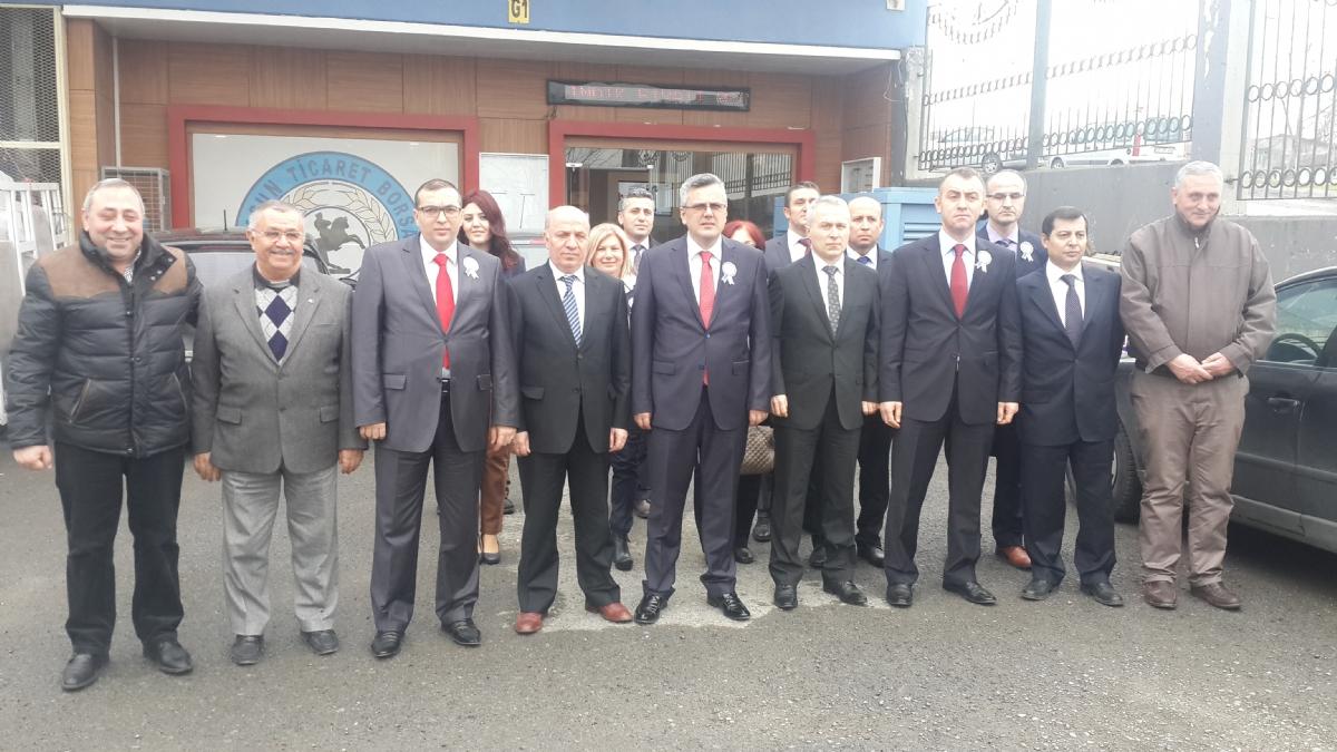 Samsun Vergi Dairesi Başkanı Zeki Yumbul Borsamızı Ziyaret Etti.