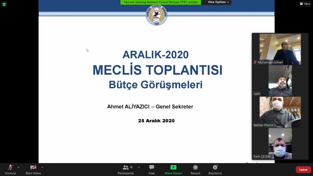 """Samsun Ticaret Borsası 2021 Yılı Bütçesi """" Oy Birliği """" ile Kabul Edildi..."""