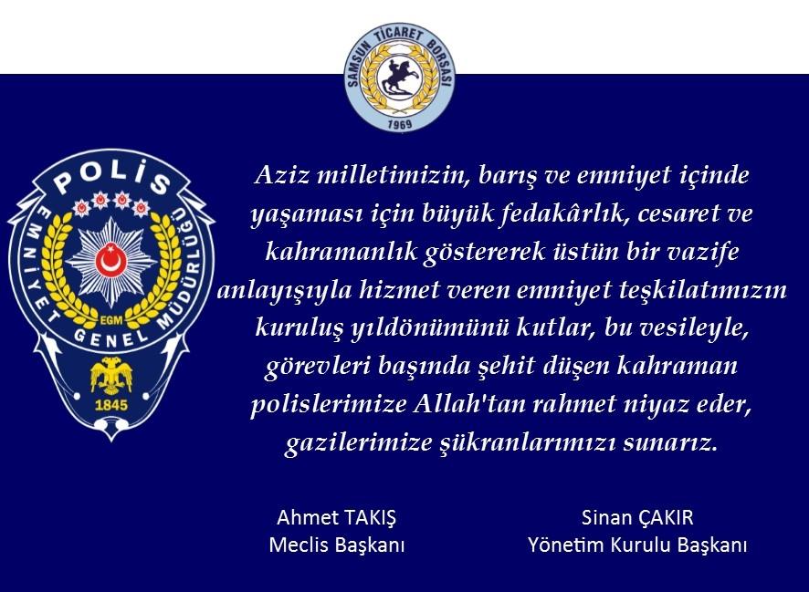 Türk Polis Teşkilatı'nın 172. Yıl Dönümü...